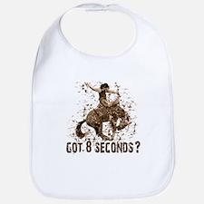 Got 8 seconds? Rodeo cowboy Bib