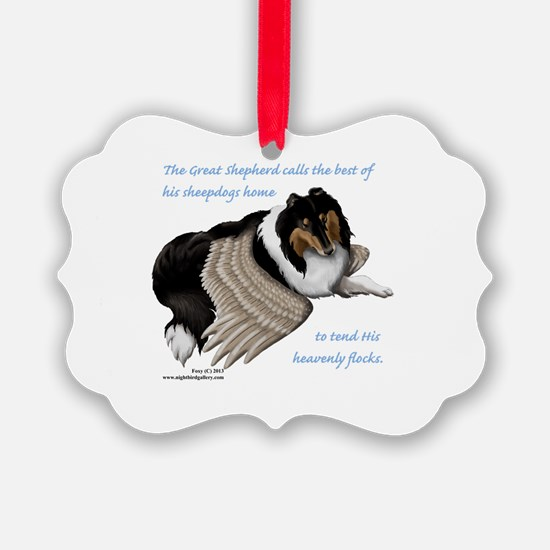 Angelic Collie Ornament