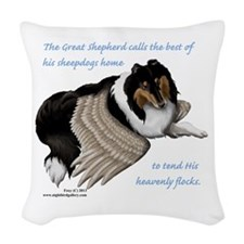 Angelic Collie Woven Throw Pillow