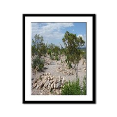 Boot Hill Cemetary Framed Panel Print