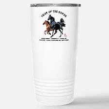 Year of The Horse Characteristics Travel Mug