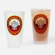 Polish Medallion Drinking Glass