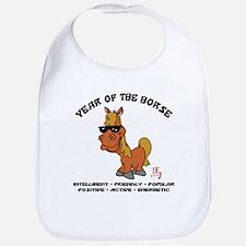 Funny Year of The Horse Characteristics Bib
