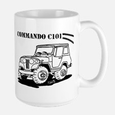 Jeepster Commando C101 cartoon Mugs