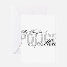 My Boyfriend is My Hero - POLICE Greeting Cards