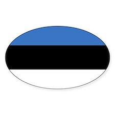 Flag of Estonia Oval Decal