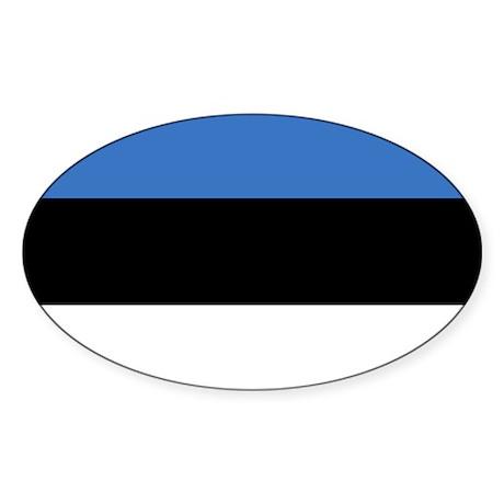 Flag of Estonia Oval Sticker