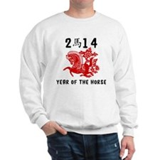 Traditional Year of The Horse Paper Cut Sweatshirt