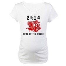 Traditional Year of The Horse Paper Cut Shirt