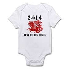 Traditional Year of The Horse Paper Cut Infant Bod