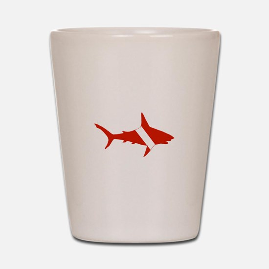 Shark Diver Shot Glass
