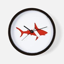 Shark Diver Wall Clock