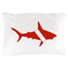 Shark Diver Pillow Case