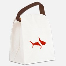 Shark Diver Canvas Lunch Bag