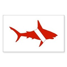 Shark Diver Decal