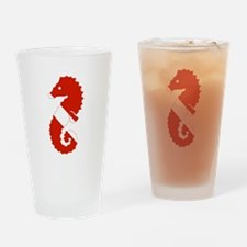 Seahorse Diver Drinking Glass