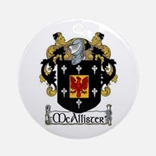McAllister Coat of Arms Ornament (Round)
