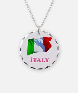 Flag of Italy 2c Necklace