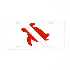 Turtle Diver Aluminum License Plate