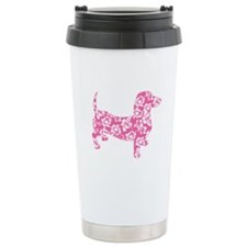 Hawaiian Pink Doxie Dachshund Travel Mug