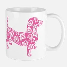 Hawaiian Pink Doxie Dachshund Mugs