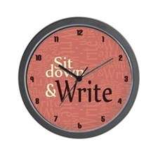 Sit Down and Write Wall Clock