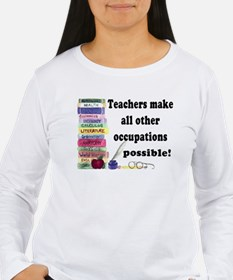 """Teacher Occupations"" Long Sleeve T-Shirt"