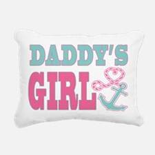 Daddys Girl Boat Anchor and Heart Rectangular Canv