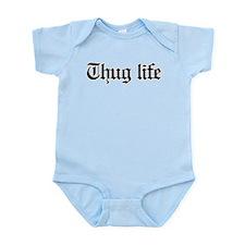 thug life, gangster, baby, g, thug Infant Bodysuit