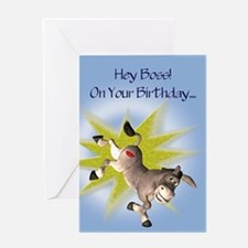 For boss, Kissing Ass birthday card Greeting Cards