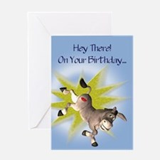 Kissing Ass birthday card Greeting Cards