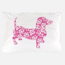 Hawaiian Pink Doxie Dachshund Pillow Case
