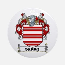 Barry Coat of Arms Ornament (Round)