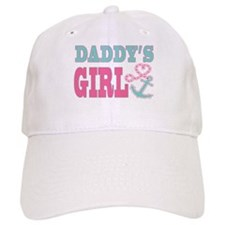 Daddys Girl Boat Anchor and Heart Baseball Baseball Cap