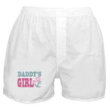 Daddys Girl Boat Anchor and Heart Boxer Shorts