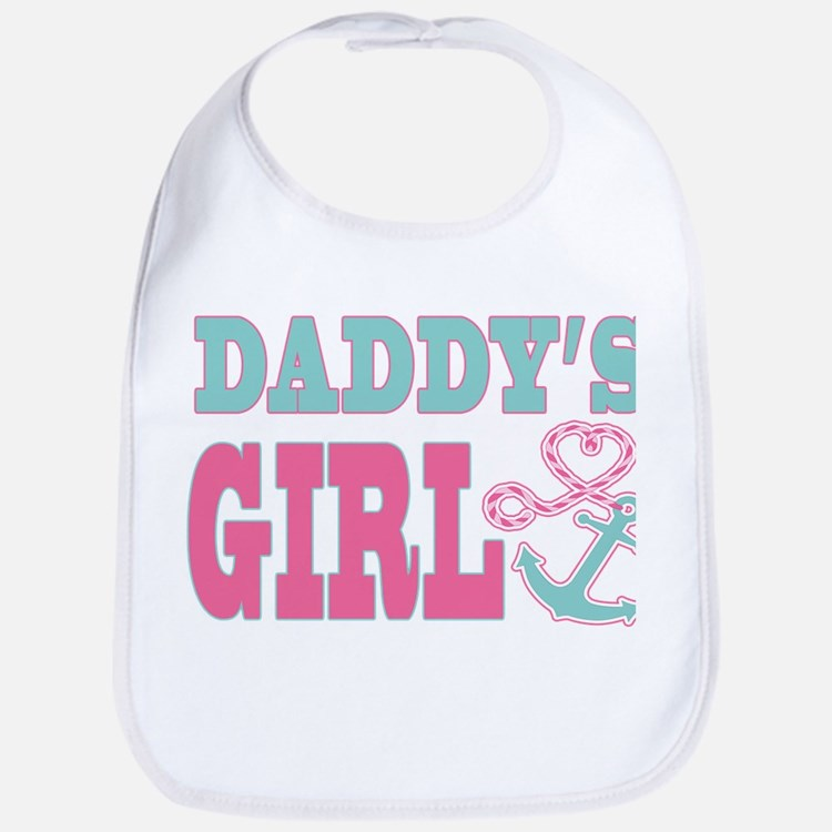 Daddys Girl Boat Anchor and Heart Bib