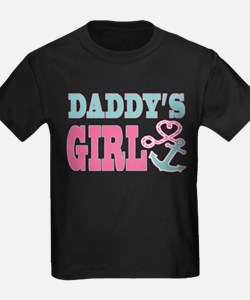 Daddys Girl Boat Anchor and Heart T-Shirt