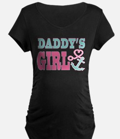 Daddys Girl Boat Anchor and Heart Maternity T-Shir