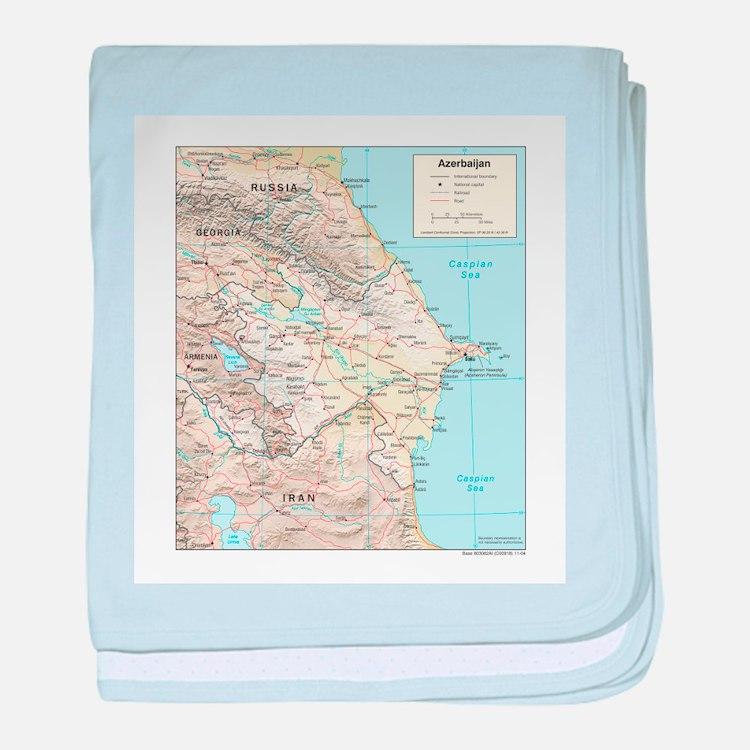 Azerbaijan Map baby blanket