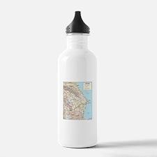 Azerbaijan Map Water Bottle