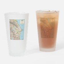 Azerbaijan Map Drinking Glass