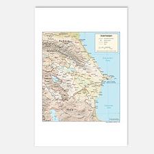 Azerbaijan Map Postcards (Package of 8)