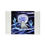 The Howling English Bulldog Rectangle Magnet