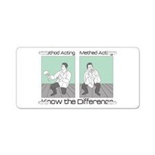 Methed Acting Aluminum License Plate