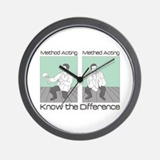 Methed Acting Wall Clock