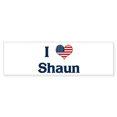 I Love Shaun Bumper Sticker