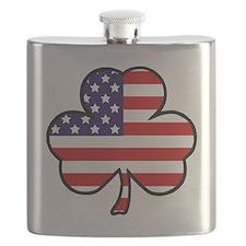 'USA Shamrock' Flask