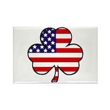 'USA Shamrock' Rectangle Magnet