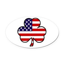 'USA Shamrock' Oval Car Magnet