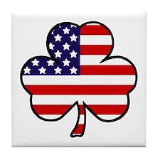 'USA Shamrock' Tile Coaster